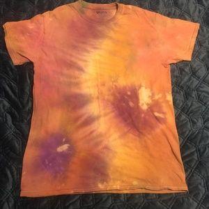 Tie dye red yellow purple